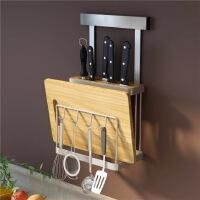 免打孔厨房置物架壁挂式不锈钢多功能家用刀架菜刀架子菜刀板架子