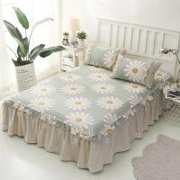 单品床罩全棉斜纹韩式单层床罩纯棉床裙单件