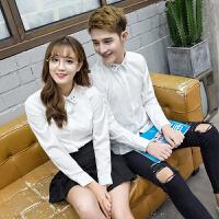 韩版时尚简约衬衫男女士修身长袖衬衣美发师理发店发型师工作制服