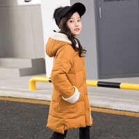 女童棉衣外套女装冬装女孩中长款