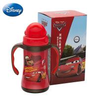 迪士尼保温杯 新款学生便携吸管水杯 萌趣儿童学饮杯