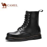 camel 骆驼男鞋 秋冬新款马丁靴男靴潮流英伦高帮皮靴系带靴