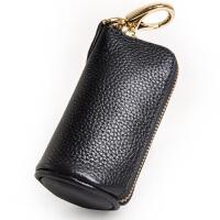Yvongo韵歌 牛皮钥匙包 个性拉链匙夹 车匙包钥匙扣真皮拉链男款钥匙包