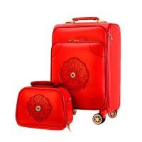 结婚箱子陪嫁箱皮箱红色行李箱万向轮拉杆箱子母箱嫁妆箱女旅行箱