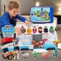 立大功玩具狗狗巡逻队儿童旺旺队玩具车套装全套变形回力车