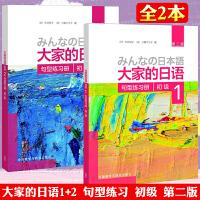 大家的日语 初级1+初级2句型练习册(第二版) 大家的日本语学习教材 中日交流日本语学习标日初级入门自学教程