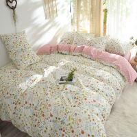 小香风床上四件套全棉纯棉碎花被套床单1.5m床上用品学生宿舍单人小清新三件套