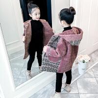 女童外套中大童大衣秋冬中长款上衣