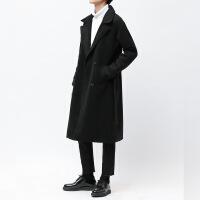 冬季�L衣男士中�L款�^膝青年�n版��松����W生加厚毛呢子大衣外套
