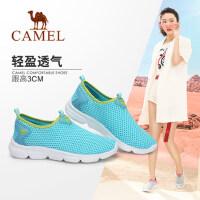Camel/骆驼女鞋2018春季新款舒适透气网鞋韩版休闲单鞋学生平底运动鞋女