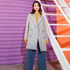 羊毛大衣女装七格格时尚韩版学生潮毛尼外套女中长款秋冬2018新款