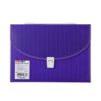 Foldermate/富美高 10876 13格手提风琴包 彩色条码纹 紫色 A4文件夹12格多层文件包办公学生学习文