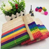 手工雪糕棒彩色木棒雪糕棍模型工具冰棒棍幼儿园手工材料diy木片 我