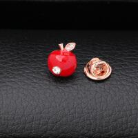 苹果胸针女时尚领针气质西服徽章衬衫领扣配饰