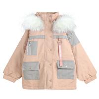 女2018新款冬装加厚夹棉工装外套学生韩版宽松中长款棉衣棉袄