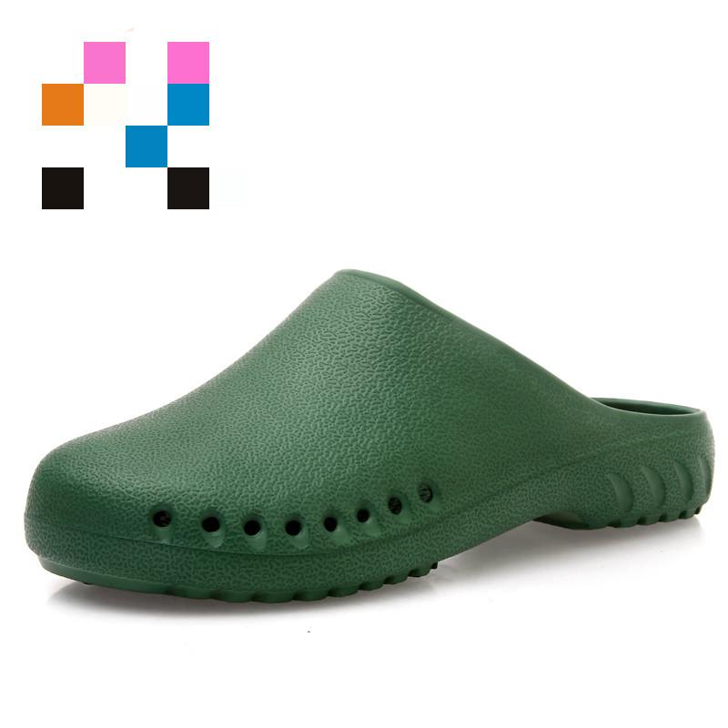 手术鞋洞洞鞋男手术鞋拖鞋实验室拖鞋手术拖鞋拖鞋包头鞋  35 35/36