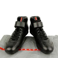 Prada黑色高帮男鞋