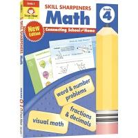 Evan-Moor Skill Sharpeners Math Grade 4 小学四年级数学练习册 美国加州教辅 技