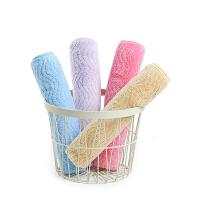 【两件包邮】卡伴婴幼儿毛巾口水巾提花长方巾4条装30*50