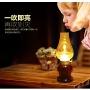 复古吹控煤油灯充电led酒吧餐桌怀旧灯创意吹控灯老式仿古小夜灯