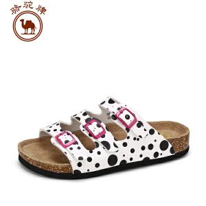 骆驼牌情侣款 夏季新品休闲拖鞋包头时尚拖鞋