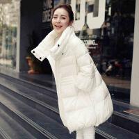 新款棉衣女中长款韩版2018孕妇羽绒A字冬季加厚宽松棉袄外套