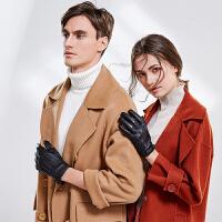 手套男女士秋冬季情侣触屏保暖骑行摩托开车加绒防寒