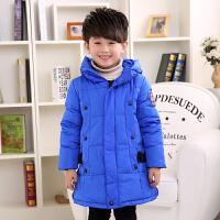 姹施丽2016冬季韩版男童女童中大童中长款加厚儿童羽绒服