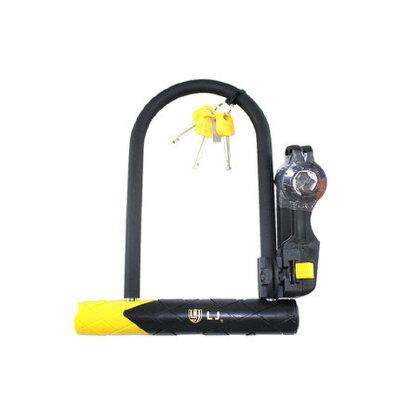 抗液压剪立兆U型锁自行车锁电动车摩托车锁山地防盗公路车LJ锁 品质保证 售后无忧 支持货到付款