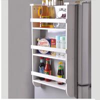 空大简约木质 白色厨房收纳冰箱架侧挂架 壁挂 厨房用品调味品置物架