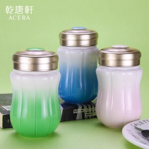 乾唐轩活瓷正品南瓜仙子随身杯创意陶瓷水杯杯子送女友送妈妈