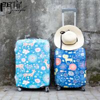 门扉 防尘罩 创意韩版行李箱弹力保护套旅行箱罩子20/24 /26寸拉杆箱加厚套家居日用结实耐用整理收纳套