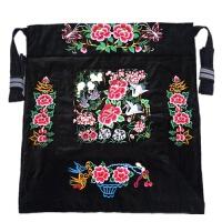 云南老式背带四川贵州传统婴儿背巾绣花薄款抱袋背被前抱后背