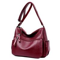 中年女包新款女式单肩斜跨包简约百搭软皮包包休闲妈妈斜跨包