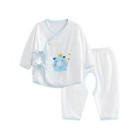 婴儿内衣套装纯棉和尚服新生儿分体睡衣开裆魔法小猪开裆合同套