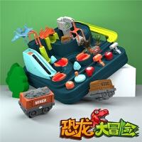 同款儿童益智火车轨道套装玩具恐龙小汽车闯关大冒险新年生日圣诞亲子互动游戏礼物