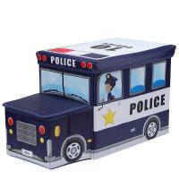 布质玩具整理柜儿童玩具收纳箱可爱卡通零食储物盒宝宝书本箱子整理筐布艺架神器