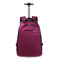 拉杆包旅行包双肩背包纯色牛津布登机旅行包拉杆箱包商务电脑背包旅行箱20寸 20寸