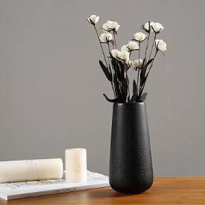 御目 摆件 简约现代陶瓷花瓶瓷器北欧白色花瓶客厅摆件家居家饰干花花器中式工艺品家居摆件创意家饰