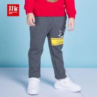 季季乐童装2017冬季新款男童时尚针织裤男中小童休闲长裤子加绒