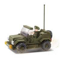 小鲁班积木陆军部队拼装军事玩具吉普车模型儿童益智玩具
