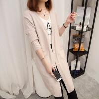 中长款毛衣外套女针织衫开衫秋冬季新款韩版宽松百搭上衣2908