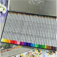 马可MARCO 秘密花园专用彩色铅笔专业美术36色水溶彩铅 高级绘画绘图彩色铅笔套装铁盒装