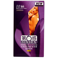 【避孕套】第六感避孕套超薄超滑 冰火一体12只装安全套成人情趣计生用品