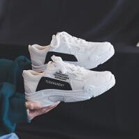 女鞋2019春季新款韩版休闲运动鞋女跑步鞋百搭原宿小白鞋老爹鞋 35 女款