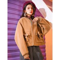 七格格毛呢外套女短款加厚学生秋冬季新款流行韩版小妮子大衣