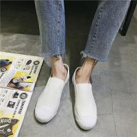 透气男鞋子潮鞋夏季新款帆布鞋男一脚蹬懒人鞋老北京布鞋男休闲鞋