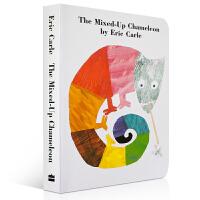 The Mixed-Up Chameleon 纸板书 拼拼凑凑的变色龙 Eric Carle 艾瑞・卡尔 当变色龙发现他不仅可以改变颜色,还能改变形状和大小的时候,他的生活变得非常有趣 廖彩杏推荐