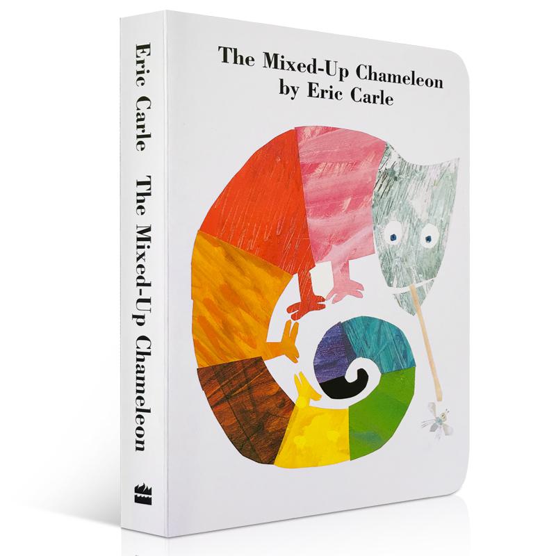The Mixed-Up Chameleon 纸板书 拼拼凑凑的变色龙 Eric Carle 艾瑞·卡尔 当变色龙发现他不仅可以改变颜色,还能改变形状和大小的时候,他的生活变得非常有趣 廖彩杏推荐