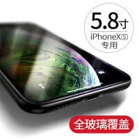�O果X�化膜iphoneX手�CXs全屏覆�wiphoneXsMax�N膜高清max防爆保�oiphone玻